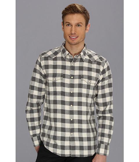 Camasi Lucky Brand - Summit Buffalo Check Western Shirt - Natural/Grey