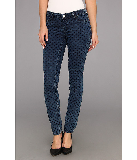 Blugi Blank NYC - The Spray On Skinny in Polka Dot Denim - Polka Dot Denim