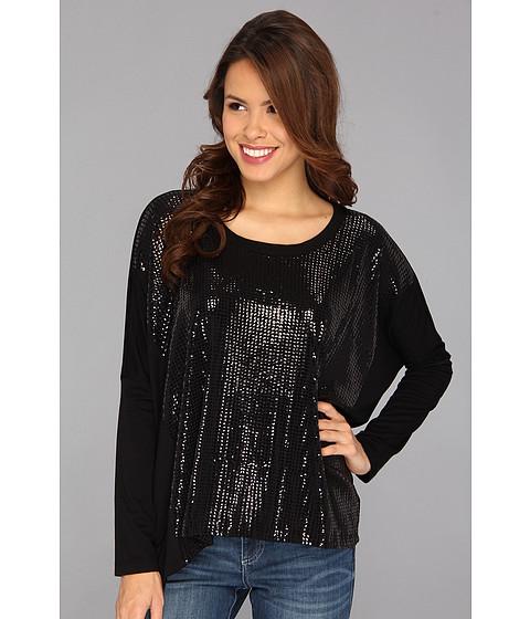 Bluze Karen Kane - Sequin Contrast Tunic - Black