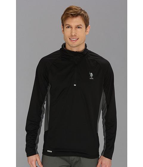 Bluze U.S. Polo Assn - Cage Mesh 1/4 Zip Active Top - Black