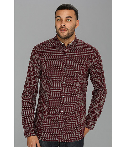 Camasi French Connection - Donder Printed L/S Shirt - Bordeaux