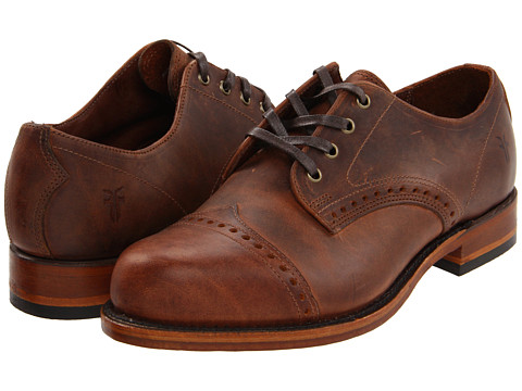 Pantofi Frye - Arkansas Brogue Oxford - Rust/Vintage Pull Up