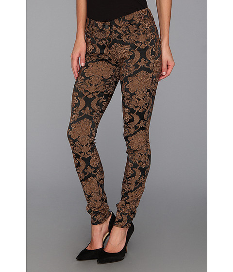 Blugi 7 For All Mankind - Skinny in Gold Feathered Jacquard - Gold Feathered Jacquard