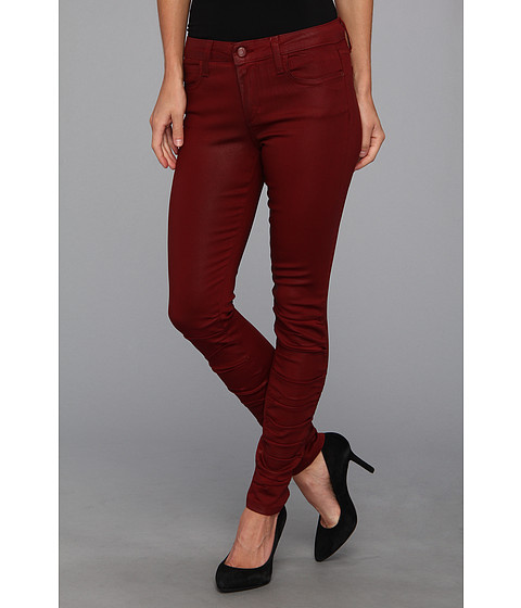 Blugi Joes Jeans - Coated Ruched Skinny Ankle - Wine