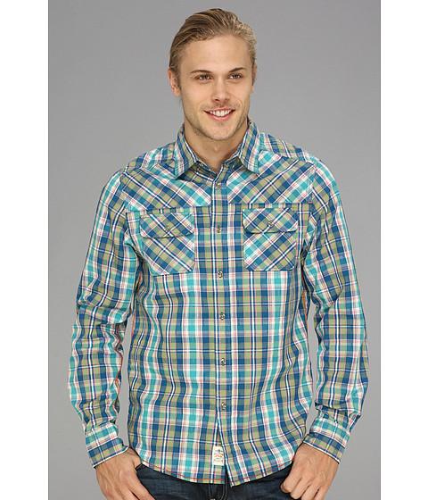 Camasi Fresh Brand - Plaid Shirt w/ Fancy Yolk - Turquoise