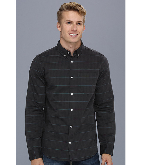 Camasi DC - Lowblow Long Sleeve Woven Shirt - Dark Shadow Stripe