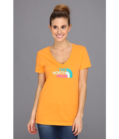 Bluze The North Face - S/S Multi Half Dome V-Neck Tee - Vitamin C Orange
