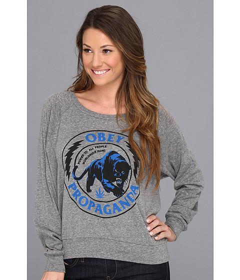 Bluze Obey - Panther Militia Triblend Raglan Tee - Heather Grey