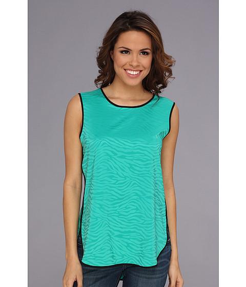 Bluze Vince Camuto - S/L Shirt Tail Jacquard Blouse - Emerald