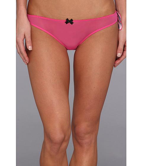 Lenjerie Betsey Johnson - Jingle All The Way Ruffle Bikini - Bias Stripe Think Pink