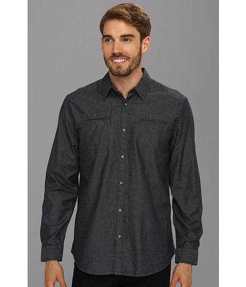 Camasi DKNY - L/S Twill Print Shirt - City Press - Blue