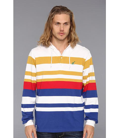 Bluze L-R-G - Equilibrium L/S Henley Hoody - White
