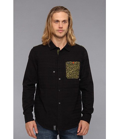 Camasi L-R-G - Trapped Out L/S Woven - Black