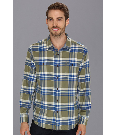 Camasi Lucky Brand - Gunnar Plaid Two-Pocket - Olive/Blue