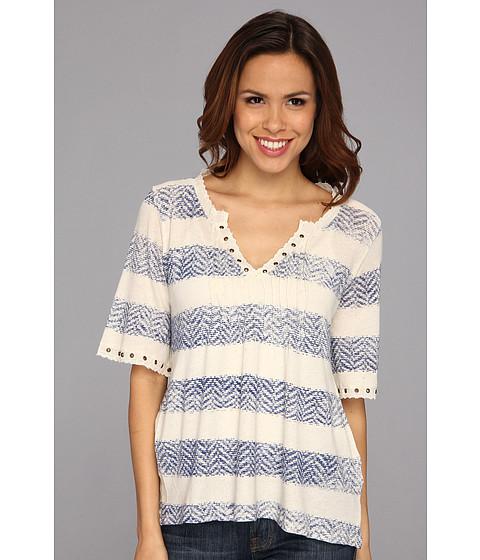 Bluze Lucky Brand - Drapey Pintucked Top - Blue Stripe