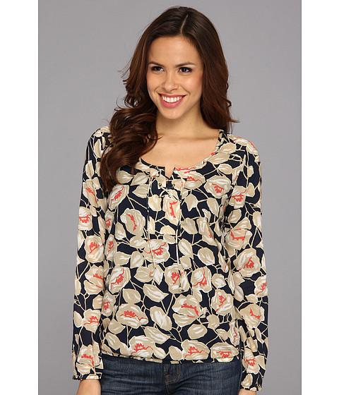 Bluze Lucky Brand - Floral Vine Lace Up - Navy Multi