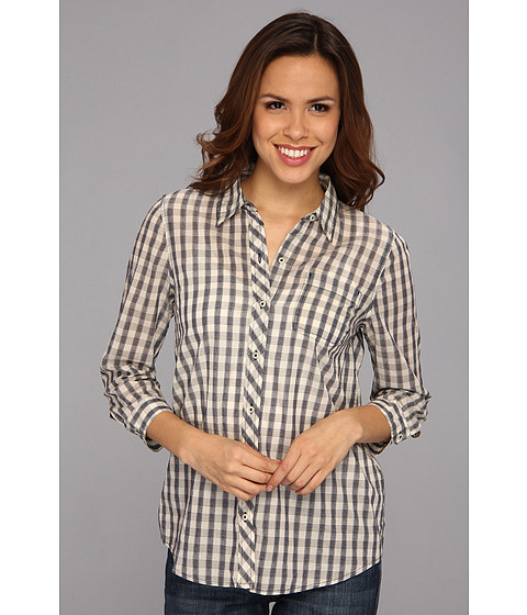 Camasi Lucky Brand - Mixed Gingham Plaid Top - Navy Multi