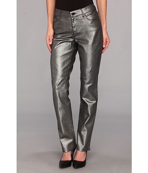 Blugi Anne Klein New York - Akj-Leo Straight Jean in Gunmetal - Gunmetal