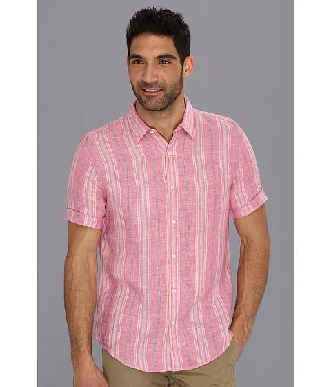 Camasi Perry Ellis - Linen Fresh Stripe S/S Shirt - Jaipur Pink