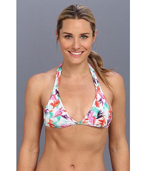 Costume de baie Carve Designs - Janie Reversible Bikini Top - White Paradise/Hot Coral