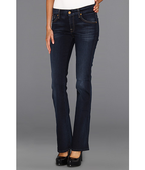 Blugi 7 For All Mankind - Short Inseam Kimmie Bootcut in Slim Illusion Merci Blue - Slim Illusion Merci Blue