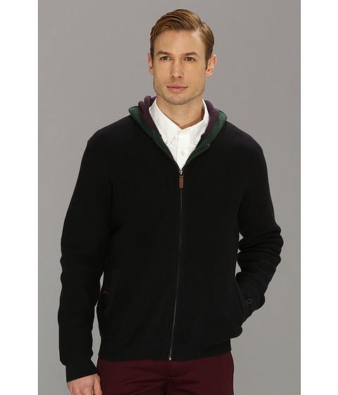 Bluze Ted Baker - L/S Zip Through Textured Hoody - Navy