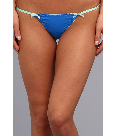 Lenjerie Betsey Johnson - Slinky Knit String Thong 722513 - Berry Blue