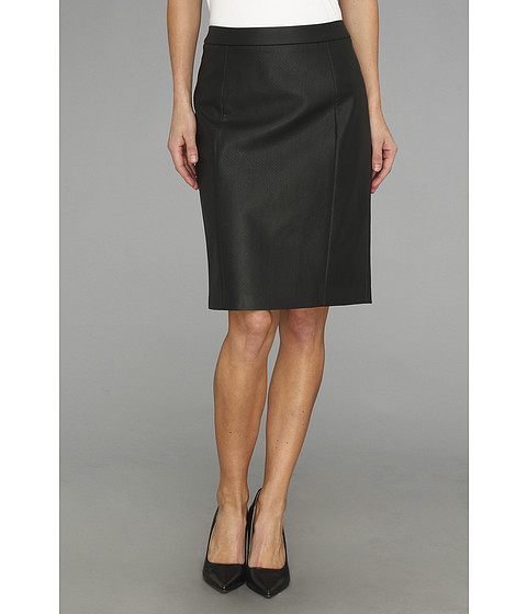 Fuste Vince Camuto - Perforated Slim Pencil Skirt - Rich Black