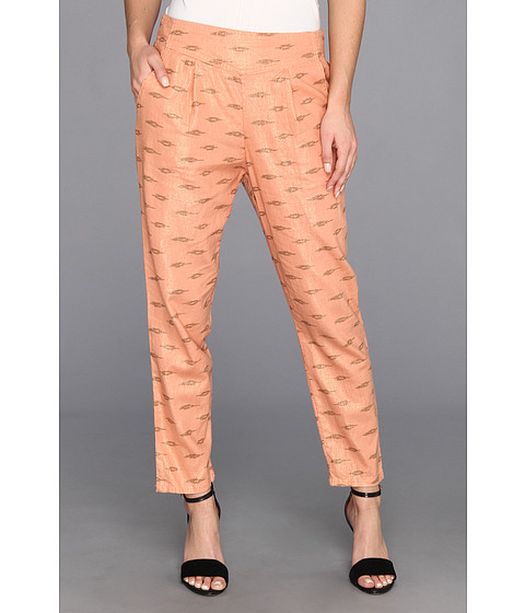 Pantaloni Free People - Printed Easy Pleat Pant - Apricot Combo