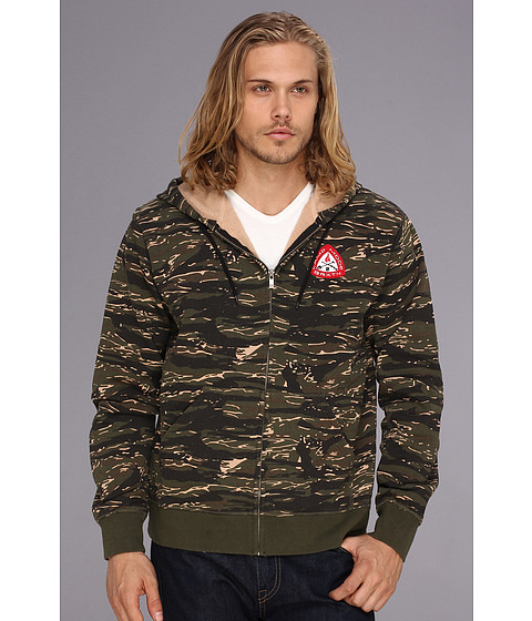 Bluze Brixton - Donner Zip Hooded Fleece - Camo