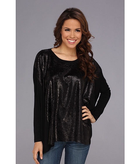Bluze Karen Kane - Metallic Knit Tunic - Black