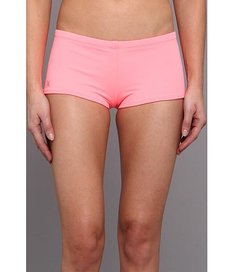 Costume de baie Hurley - One & Only Solids Boyshort - Pink