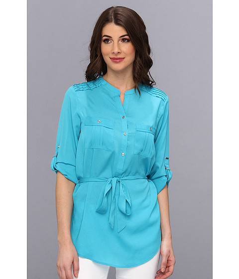 Bluze Calvin Klein - Henley Tunic w/ Self Belt - Pool