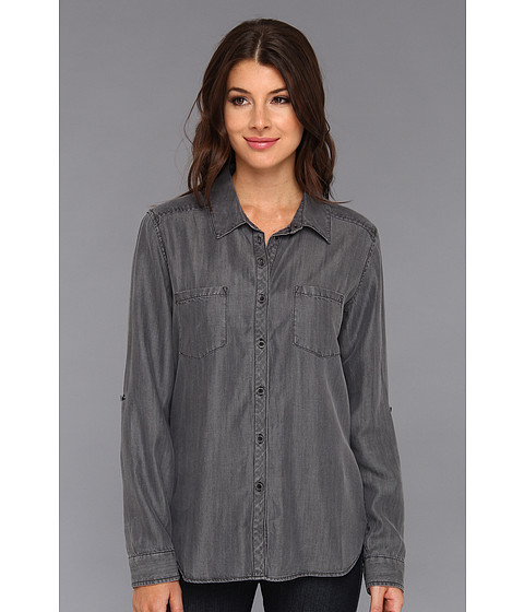 Camasi C&C California - Textured Tencel Chambray Two-Pocket Shirt - Black