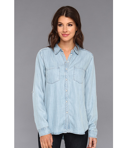 Camasi C&C California - Textured Tencel Chambray Two-Pocket Shirt - Chambray Multi