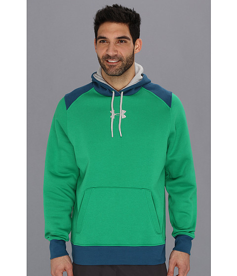 Bluze Under Armour - UA Charged CottonÃ'® Storm Hoodie - Astro Green/Wham/Aluminum