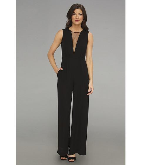 Pantaloni BCBGMAXAZRIA - Behati Sleeveless V-Neck Jumpsuit - Black