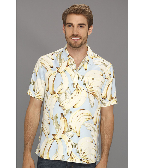 Camasi Tommy Bahama - Island Modern Fit Plantain Paradise Camp Shirt - Icicle Blue