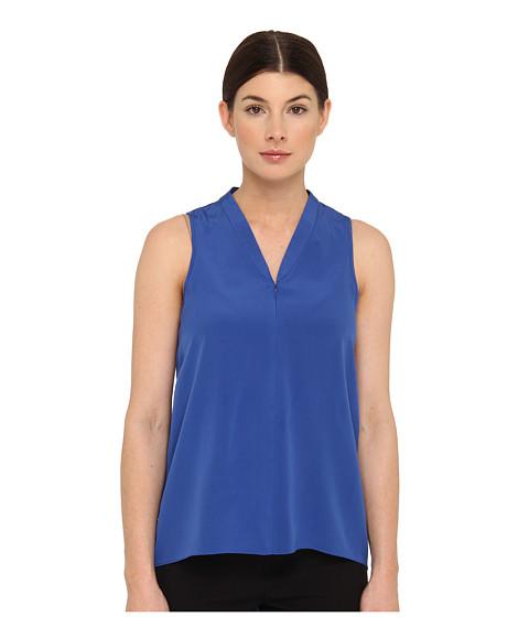 Bluze Tibi - Heavy Silk CDC Sleeveless Zip Up Tank - Sapphire
