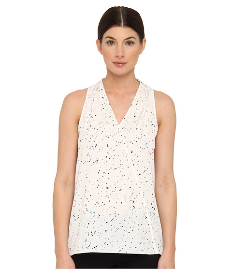 Bluze Tibi - Mini Splatter Dot Halter Top - White Multi