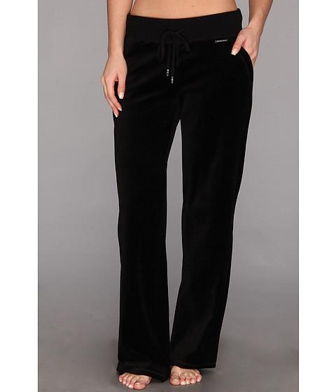 Pantaloni MICHAEL Michael Kors - Pull On Velour Pant - Black/Silver