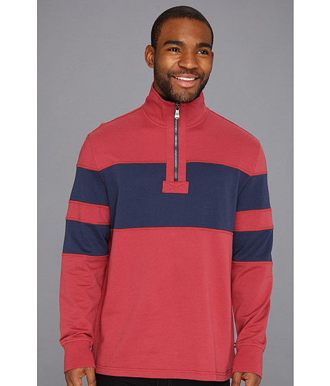 Bluze Nautica - Pieced Mock 1/4 Zip Pullover - Rusted Hull