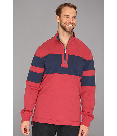 Bluze Nautica - Big & Tall Pieced Mock 1/4 Zip Pullover - Rusted Hull