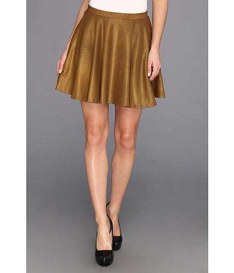 Fuste Obey - Gold Dust Skater Skirt - Gold