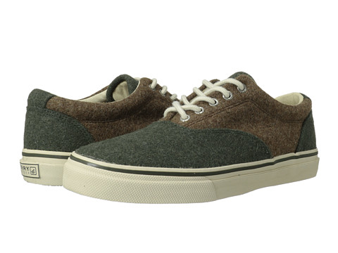 Adidasi Sperry Top-Sider - Striper CVO Wool - Olive/Tan