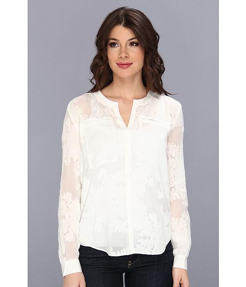 Bluze Rebecca Taylor - L/S Floral Blouse - Cream