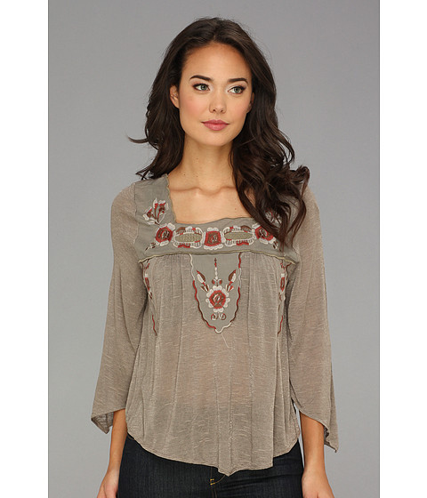 Bluze Free People - Bed Of Roses Top - Castle Grey