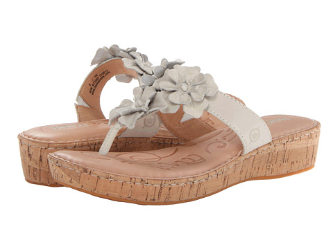 Sandale Born - Kimona - White Full-Grain Leather