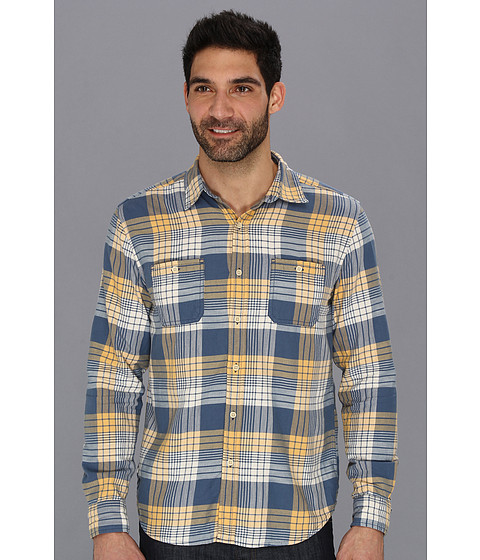 Camasi Lucky Brand - Bigelow Plaid 2-Pocket - Blue/Gold