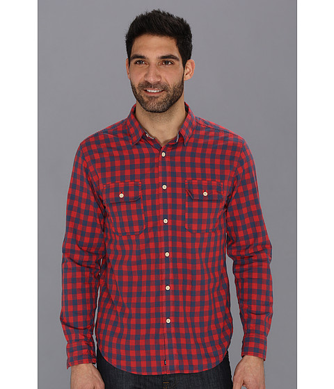 Camasi Lucky Brand - Rosecrans Gingham Shirt - Red/Blue